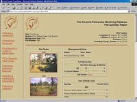 Savanna Web Database